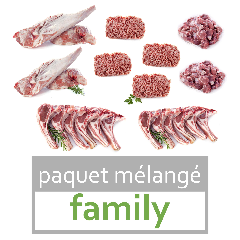 """viande d'agneau bio """"family"""""""