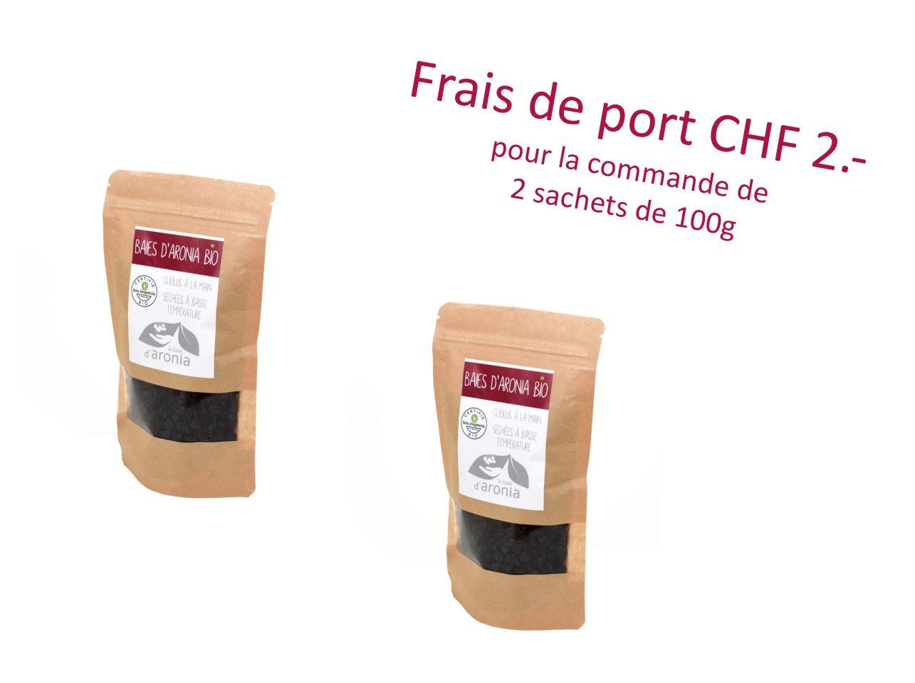 Baies d'aronia séchées, 200 g
