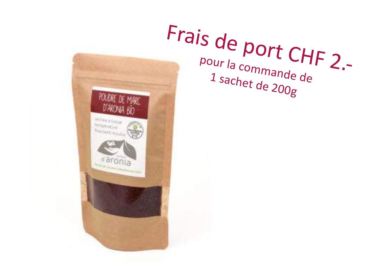 Poudre de marc d'aronia,  200 g